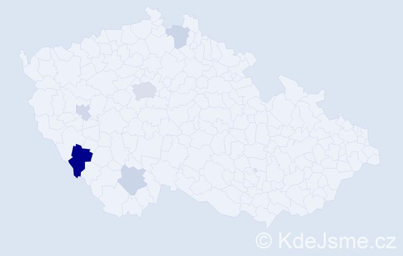 Příjmení: 'Kaltenbrunnerová', počet výskytů 10 v celé ČR