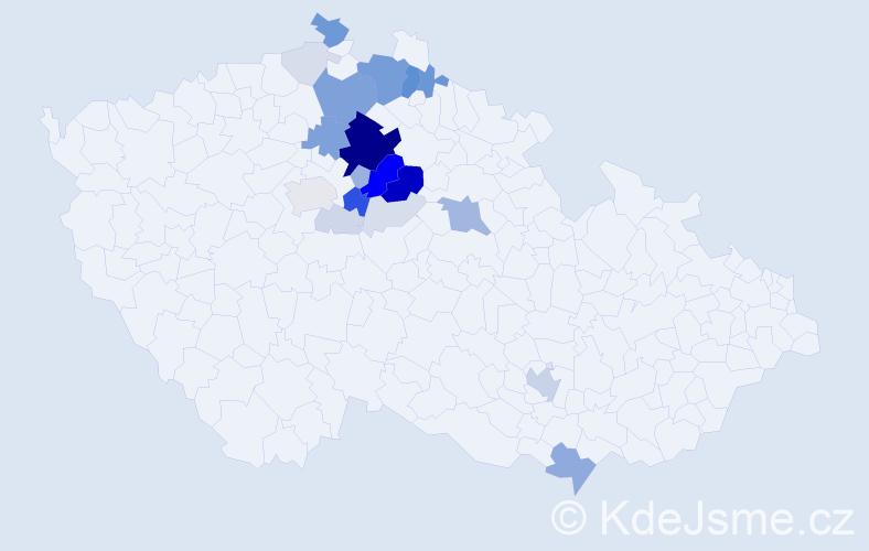 Příjmení: 'Fadrhonc', počet výskytů 87 v celé ČR
