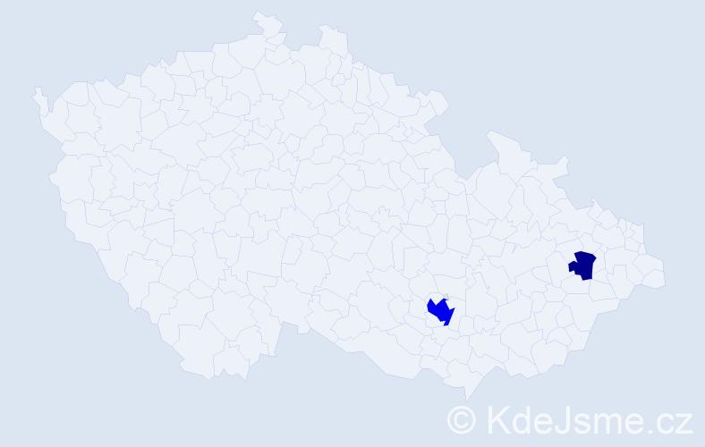Příjmení: 'Groscheová', počet výskytů 5 v celé ČR