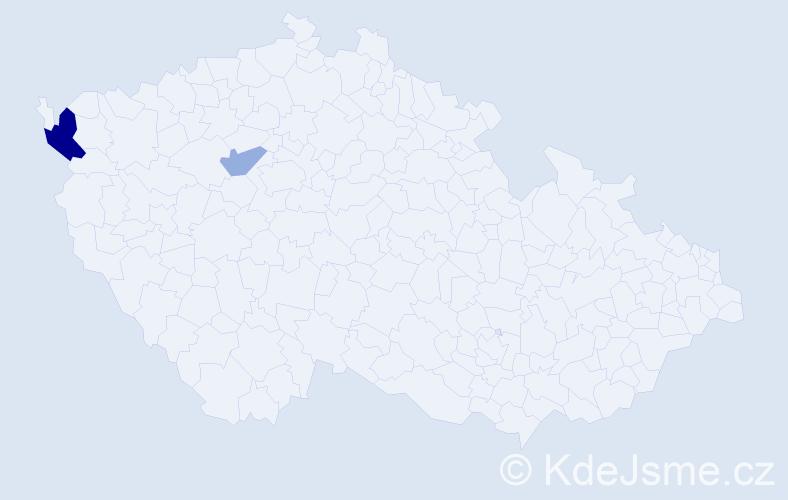 Příjmení: 'Goldschaltová', počet výskytů 4 v celé ČR
