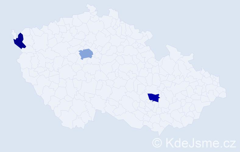 Příjmení: 'Laitová', počet výskytů 5 v celé ČR