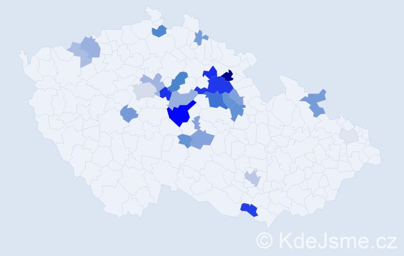 Příjmení: 'Herel', počet výskytů 68 v celé ČR