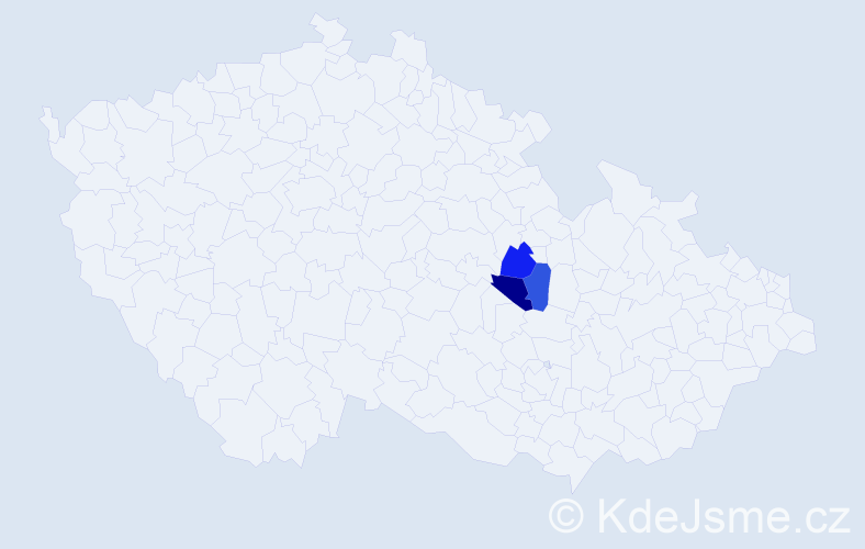 Příjmení: 'Belfiová', počet výskytů 6 v celé ČR