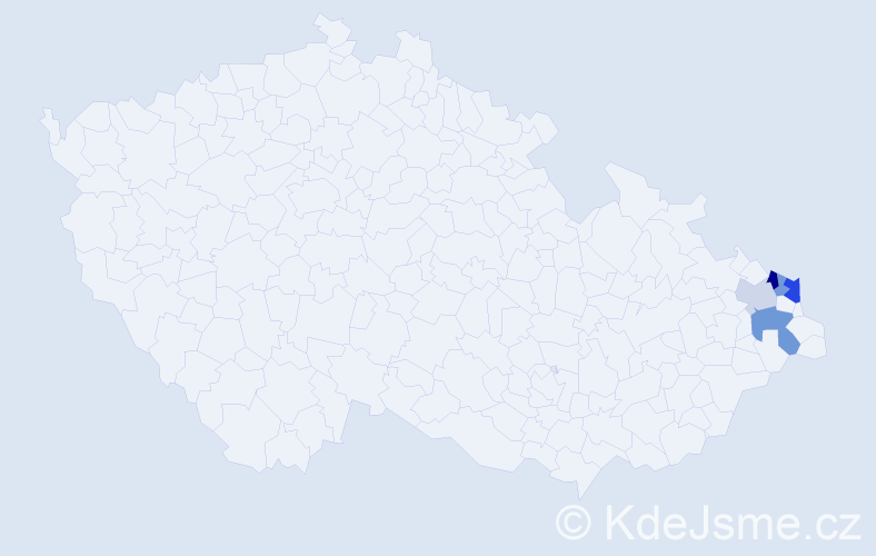 Příjmení: 'Groborzová', počet výskytů 9 v celé ČR