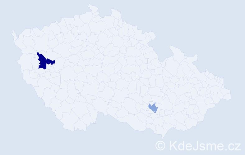 Příjmení: 'Borst', počet výskytů 2 v celé ČR