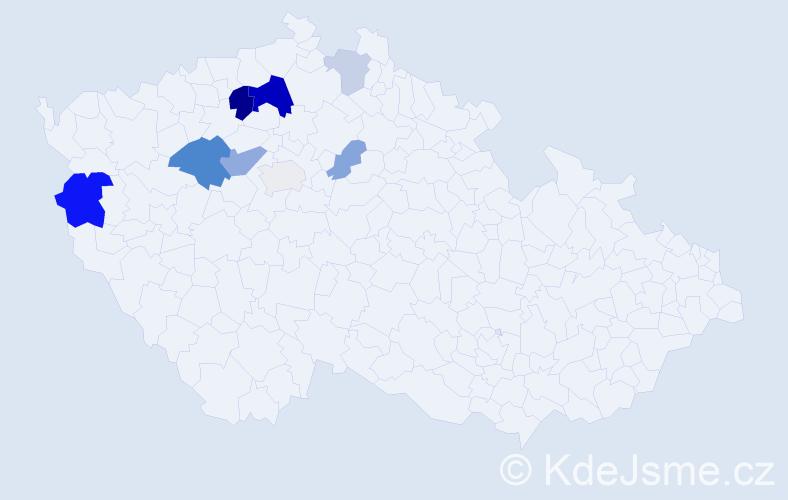 Příjmení: 'Herclová', počet výskytů 20 v celé ČR