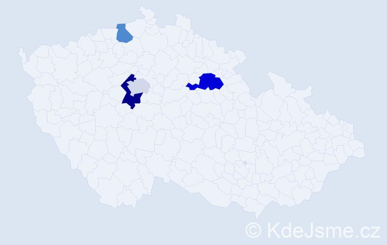 Příjmení: 'Eichenberger', počet výskytů 6 v celé ČR