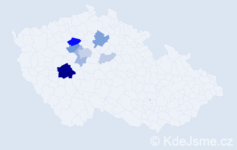 Příjmení: 'Hampeis', počet výskytů 31 v celé ČR