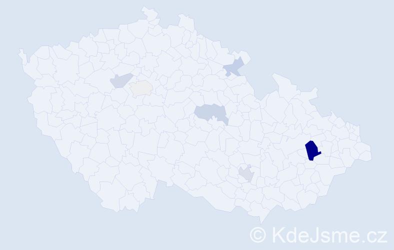 Příjmení: 'Christelová', počet výskytů 12 v celé ČR