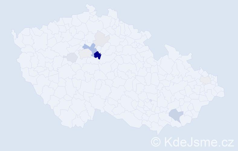 Příjmení: 'Heřtusová', počet výskytů 24 v celé ČR