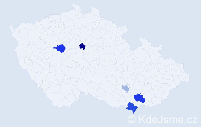 Příjmení: 'Jaslovský', počet výskytů 9 v celé ČR