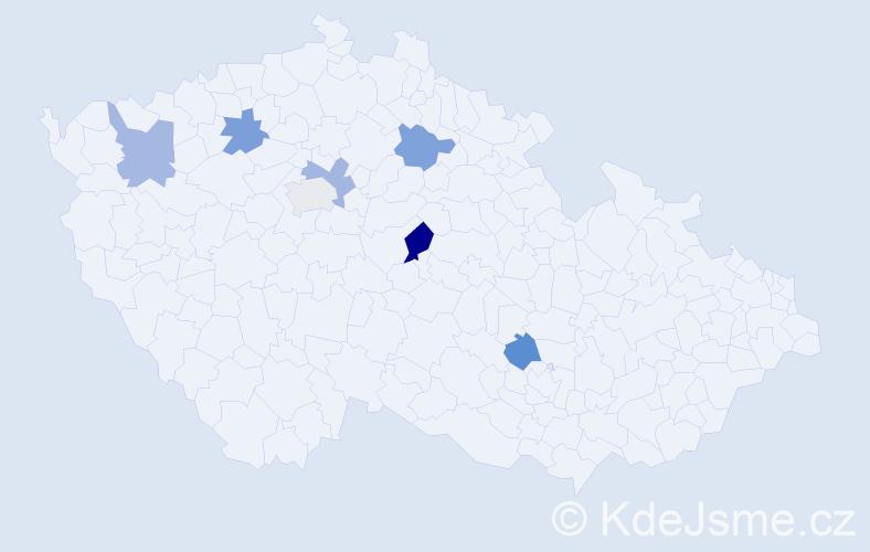 Příjmení: 'Kopská', počet výskytů 8 v celé ČR