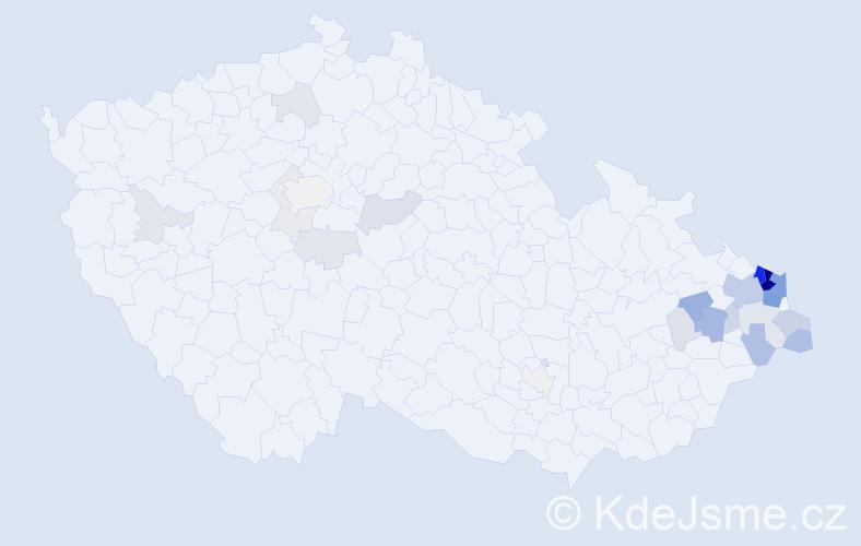 Příjmení: 'Gabzdylová', počet výskytů 112 v celé ČR