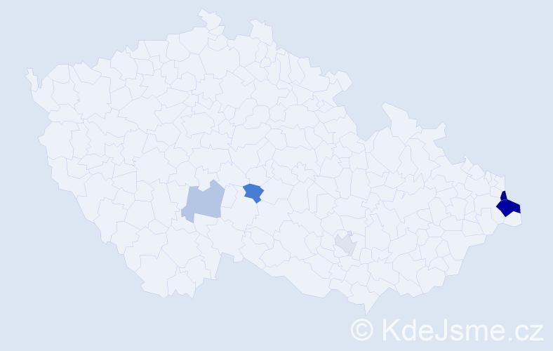 Příjmení: 'Casadio', počet výskytů 12 v celé ČR