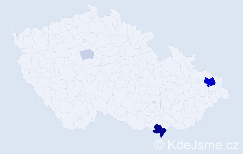 Příjmení: 'Bucsek', počet výskytů 5 v celé ČR