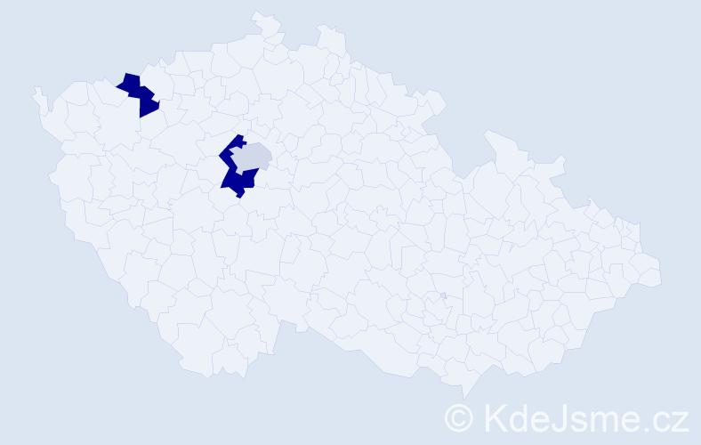 Příjmení: 'Gahlert', počet výskytů 4 v celé ČR