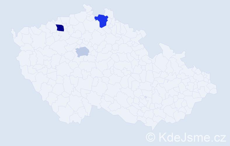Příjmení: 'Helc', počet výskytů 3 v celé ČR