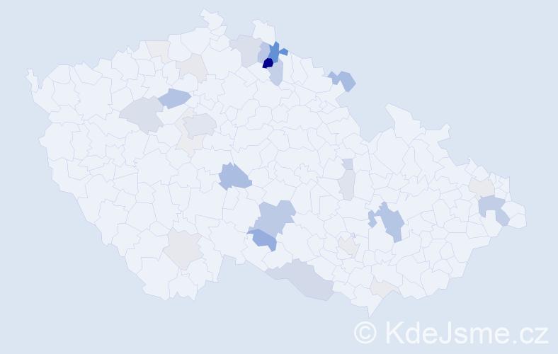 Příjmení: 'Kochánková', počet výskytů 99 v celé ČR