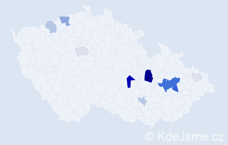 Příjmení: 'Krones', počet výskytů 23 v celé ČR