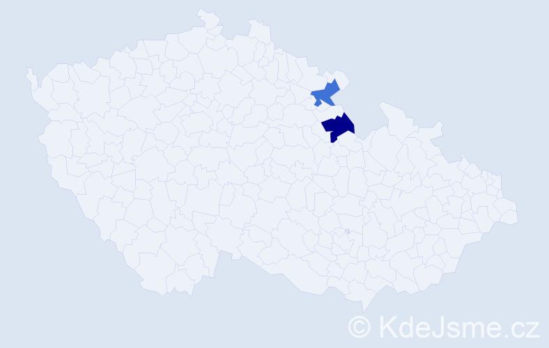 Příjmení: 'Chylka', počet výskytů 6 v celé ČR