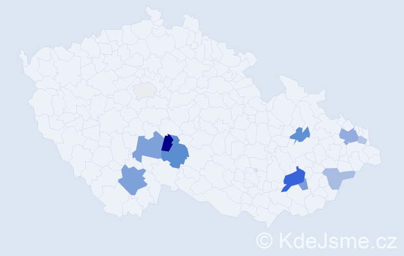 Příjmení: 'Jelšíková', počet výskytů 21 v celé ČR