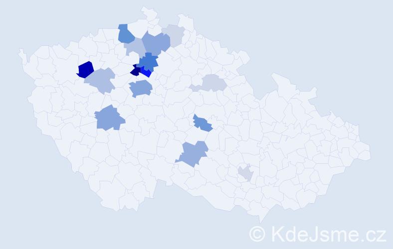Příjmení: 'Derflová', počet výskytů 51 v celé ČR
