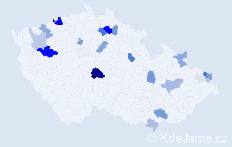 Příjmení: 'Gallik', počet výskytů 35 v celé ČR