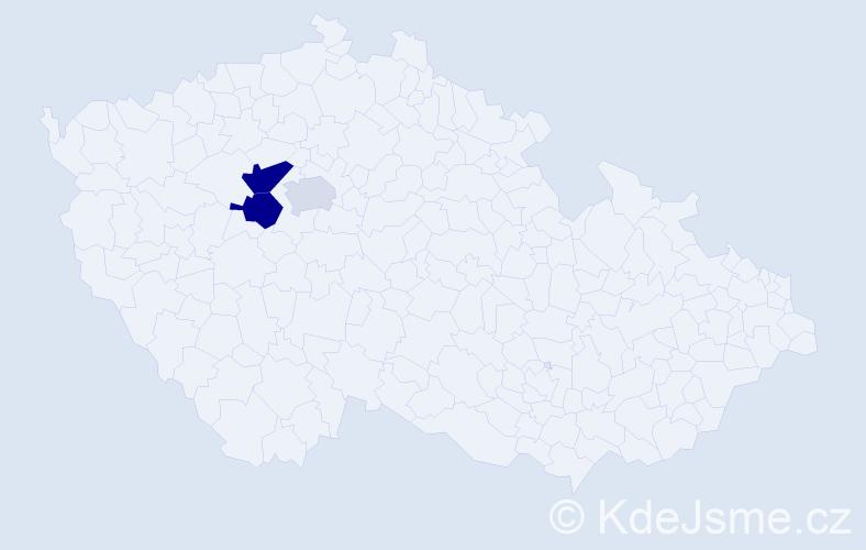 Příjmení: 'Faů', počet výskytů 10 v celé ČR