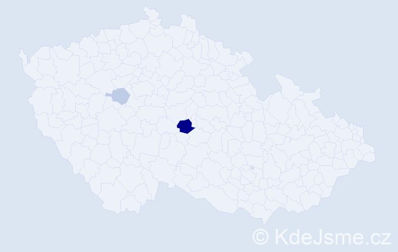 Příjmení: 'Egart', počet výskytů 9 v celé ČR