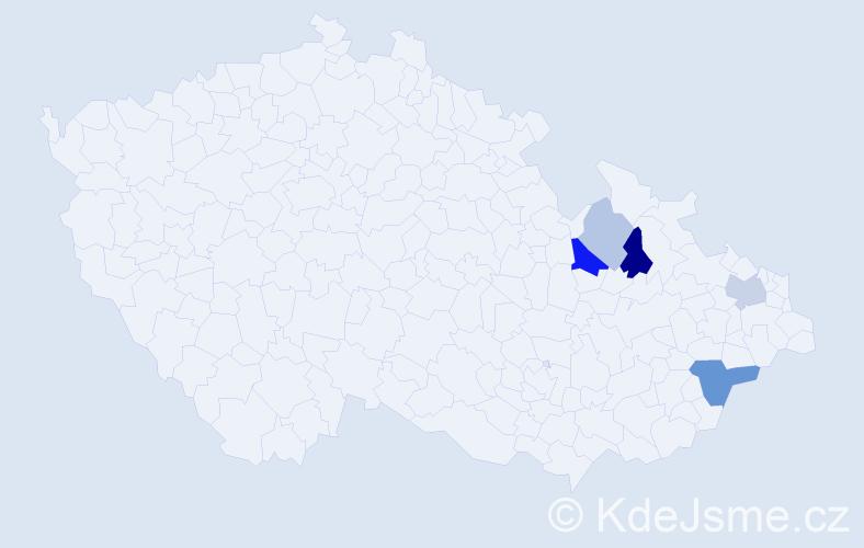 Příjmení: 'Malcharcziková', počet výskytů 11 v celé ČR