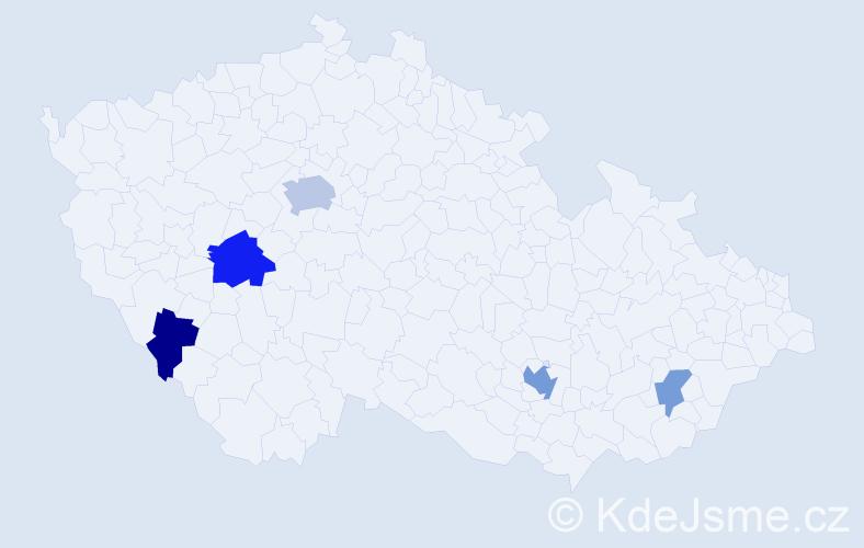 Příjmení: 'Jendruščáková', počet výskytů 10 v celé ČR
