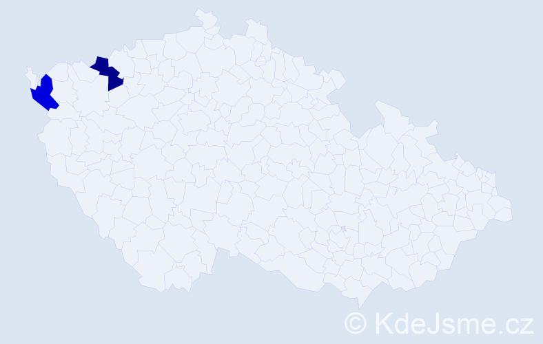 Příjmení: 'Čermušová', počet výskytů 2 v celé ČR