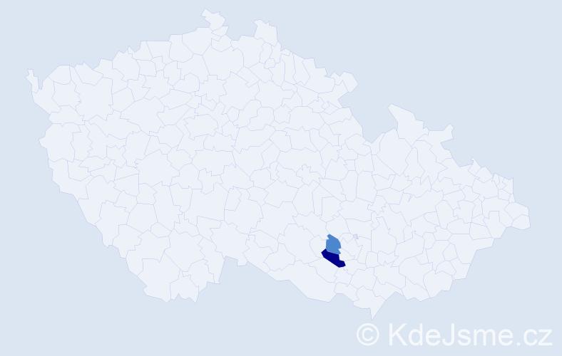 Příjmení: 'Davtjanová', počet výskytů 3 v celé ČR