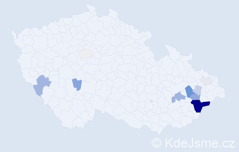 Příjmení: 'Halmazňová', počet výskytů 30 v celé ČR
