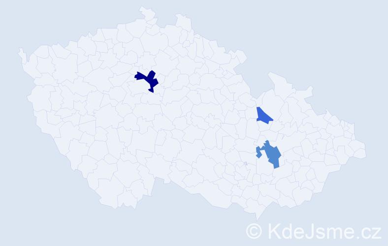Příjmení: 'Compeľ', počet výskytů 7 v celé ČR