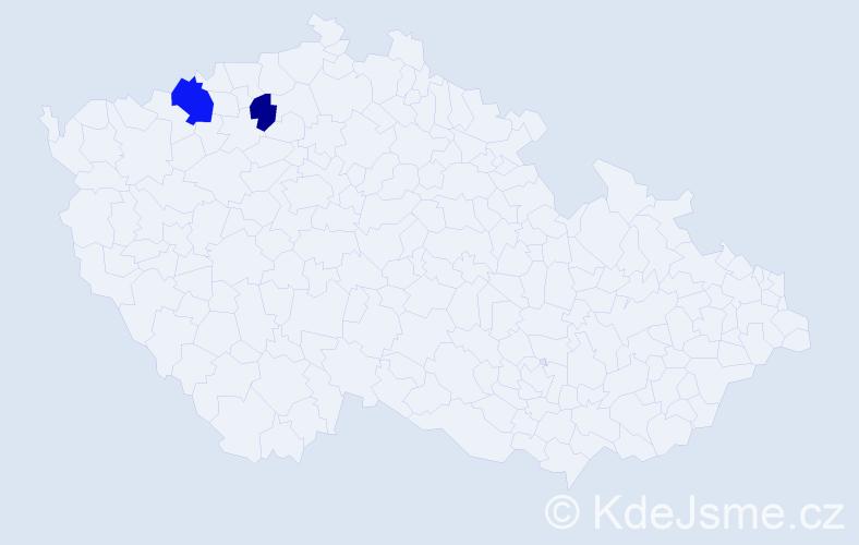 Příjmení: 'Kéringerová', počet výskytů 3 v celé ČR