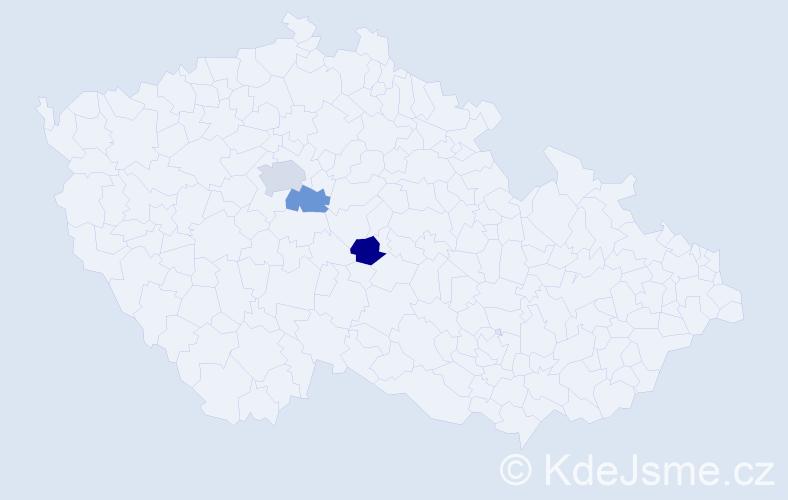 Příjmení: 'Cremonini', počet výskytů 8 v celé ČR