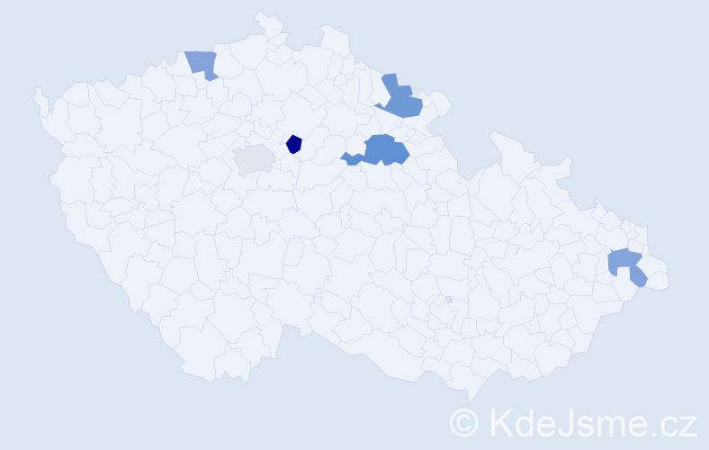 Příjmení: 'Alexejevová', počet výskytů 7 v celé ČR