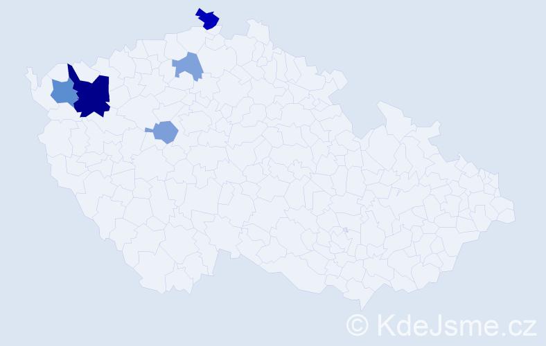 Příjmení: 'Eszenyiová', počet výskytů 11 v celé ČR
