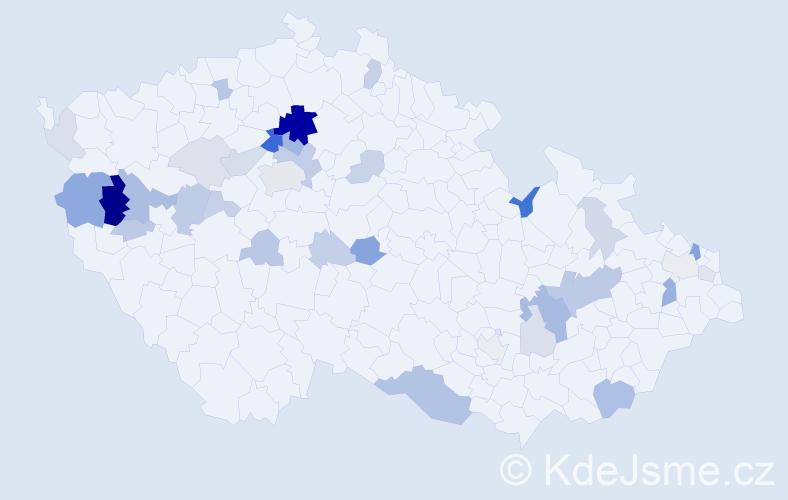 Příjmení: 'Bodiš', počet výskytů 94 v celé ČR