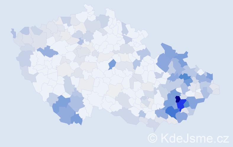 Příjmení: 'Jurčík', počet výskytů 790 v celé ČR