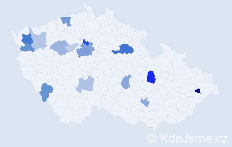Příjmení: 'Boldiš', počet výskytů 53 v celé ČR