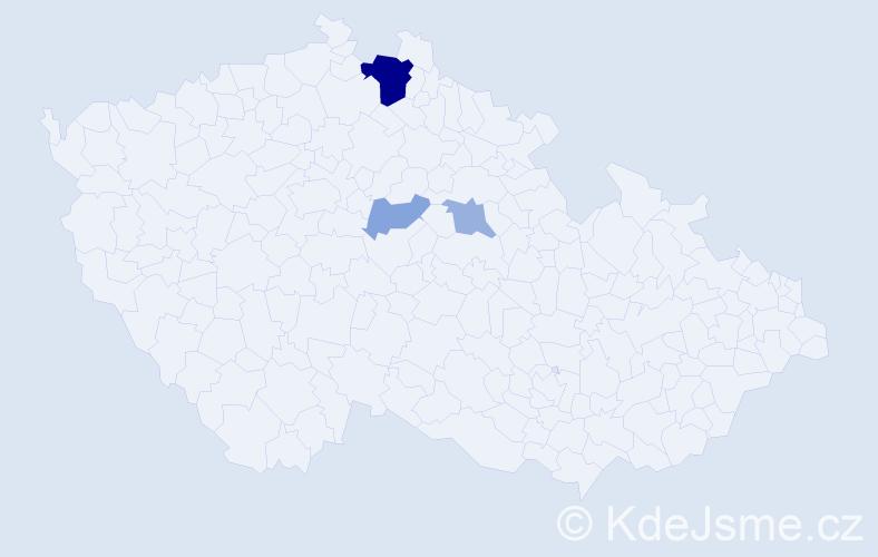 Příjmení: 'Lajksnerová', počet výskytů 8 v celé ČR