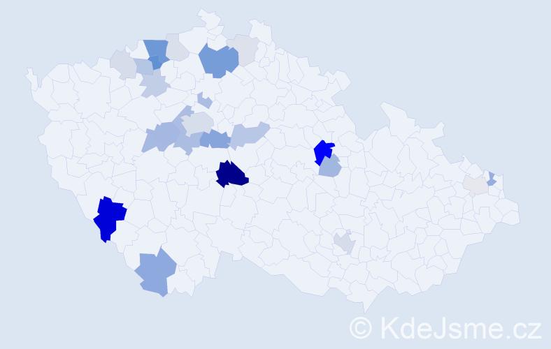 Příjmení: 'Kornová', počet výskytů 66 v celé ČR