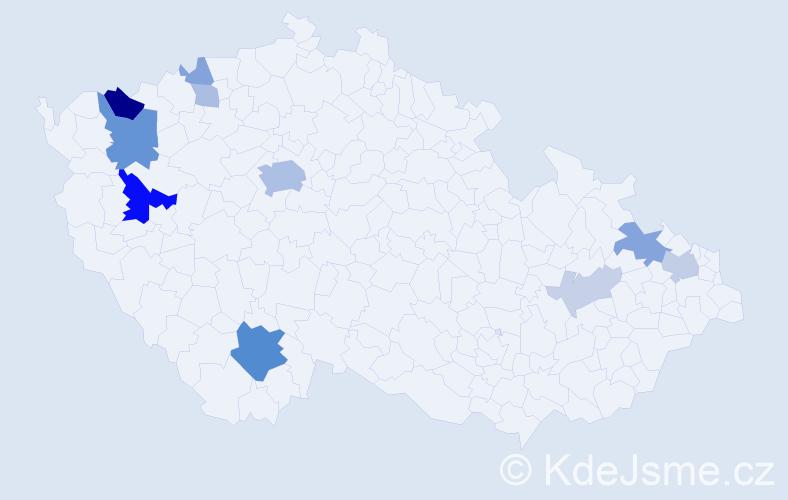 Příjmení: 'Brozman', počet výskytů 31 v celé ČR
