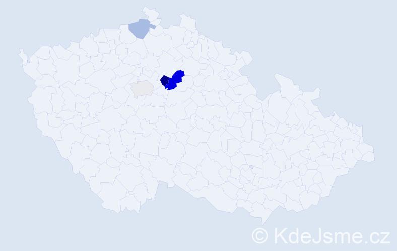 Příjmení: 'Cykánková', počet výskytů 7 v celé ČR