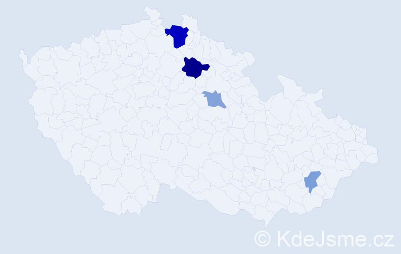 Příjmení: 'Halaburka', počet výskytů 8 v celé ČR