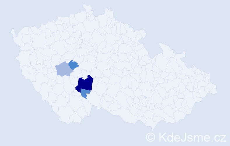 Příjmení: 'Čikešová', počet výskytů 10 v celé ČR