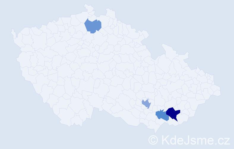 Příjmení: 'Bajgart', počet výskytů 14 v celé ČR