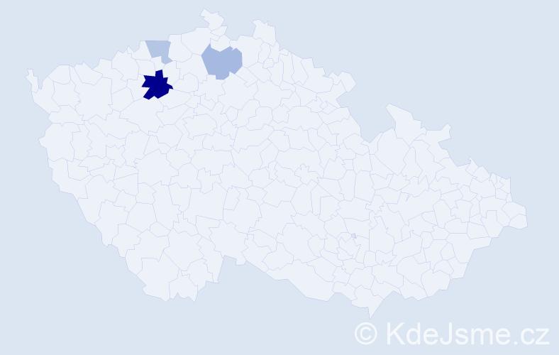 Příjmení: 'Eymann', počet výskytů 6 v celé ČR